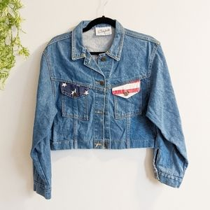 Vintage Beverly Hills Denim Crop Americana Jacket